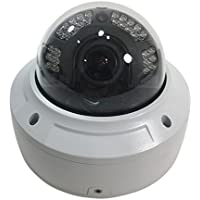 4K 8MP IP66 Weatherproof Indoor Outdoor Vandalproof IP PoE Network Dome Security Camera - ONVIF Compliant with Motorized Auto Focus Varifocal Lens, 30fps Real-time, includes Free US Tech Support