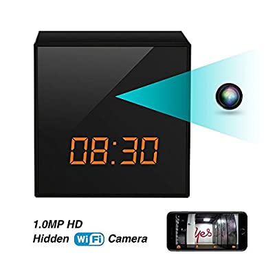 Spy Hidden Nanny Wifi Camera Clock , Enhanced Night Vision, Remote Live Video on IOS/Android Phone/PAD, DC/Battery, Motion Detection, Multi-user, No Extra Fee from EXCEPRO
