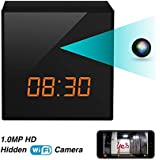 Spy Hidden Nanny Wifi Camera Clock , Enhanced Night Vision, Remote Live Video on IOS/Android Phone/PAD, DC/Battery, Motion Detection, Multi-user, No Extra Fee