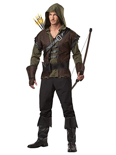 California Costumes Robin Hood Adult Costume, Olive/Brown, Medium -