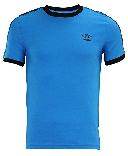 Umbro Men's Signature Short Sleeve Shirt, Blue/Black Small (Shirt Umbro)