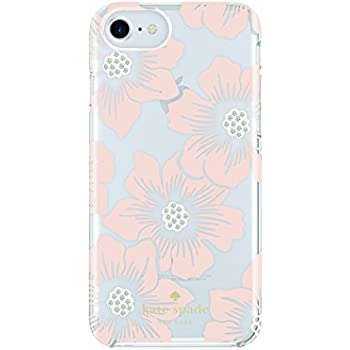 885524d4b Amazon.com: kate spade new york Protective Hardshell Case for iPhone 7 - Hollyhock  Floral Clear/Cream/Pink Sand/Gems: Cell Phones & Accessories