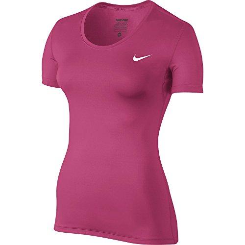 Nike Women's Pro Cool Training Top (LARGE, Vivid Pink/White)