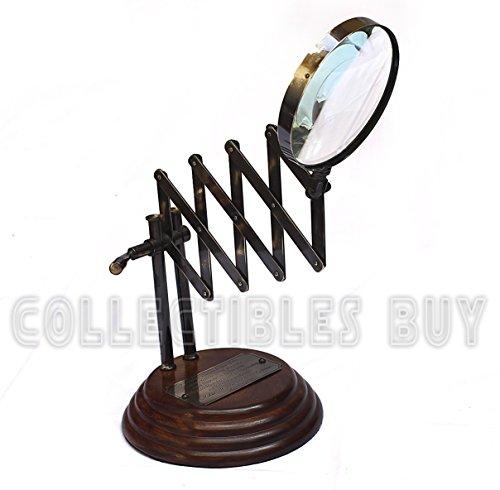 Nautical Brass Scissor Vintage Magnifying Glass Old Table Wooden map reader designer - Designer Glasses Buy