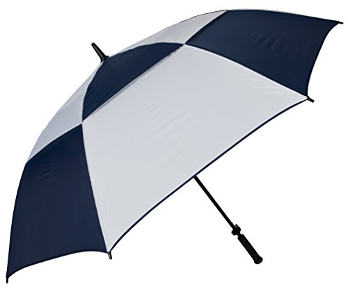 Haas-Jordan 8604 Double Canopy Hurricane 62'' Auto Open Golf Umbrella, Navy/White by Haas-Jordan