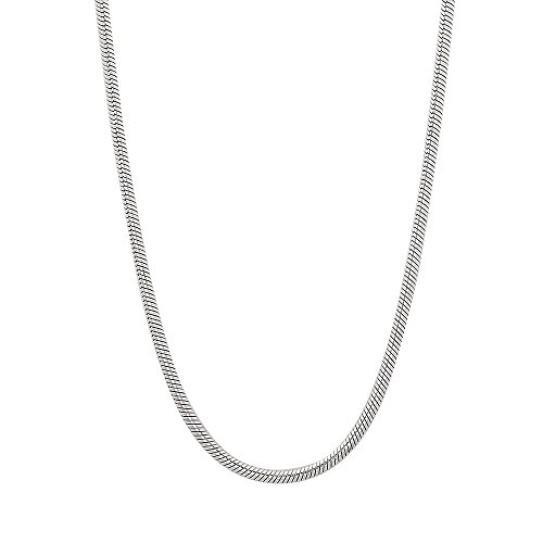 1.5mm Solid 925 Sterling Silver Italian Crafted Rounded Snake Chain