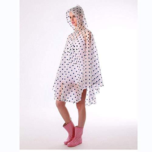 da da Trasparente Polka Rain Rain Rain Poncho con Coulisse Singles alla Jacket Raincape Viaggio 2 Outdoor Moda Bike Festa Style Donne Dots 77v0aq