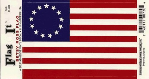 Betsy Ross flag decal for auto,
