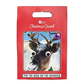 Talking Tables Christmas Games | Pin The Nose On The Reindeer Game | Great For Families PIN-REINDEER