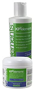 KP Elements Keratosis Pilaris Treatment Cream and Scrub Combo Pack - Clear Up Red Bumps on Your Arms and Thighs with this KP Scrub and Cream Bundle (1 each)