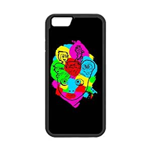 iPhone 6 Plus Caja del teléfono 5.5 pulgadas del teléfono celular Funda Negro Colorfull Inside Out A5S6QG Funda 3D Volver
