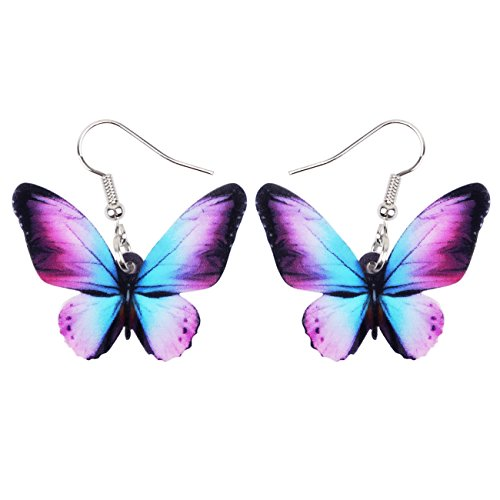 Butterfly Fashion Jewelry - Bonsny Drop Dangle Floral Butterfly Earrings Fashion Insect Jewelry For Women Girls Kids Gift