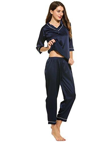 Ekouaer - Pijama - para mujer Azul