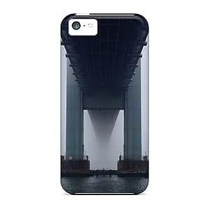 Tpu Case Cover For Iphone 5c Strong Protect Case - Verrazano Bridge Design