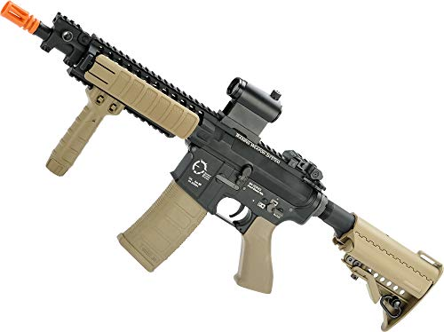Evike King Arms TWS M4 VIS Airsoft AEG (Color: Desert/CQB)