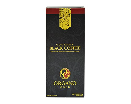 1 Box Organo Gold Gourmet Black Coffee , Organo Gold Black Coffee Organic 100% Certified , Organo Gold Instant Coffee , Organo Gold Black Coffee