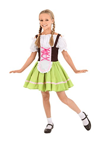 Child German Girl Costume Medium - German Costumes For Girls