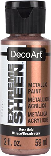 DecoArt DPM03-30 Rose Gold Extreme Sheen Paint, 2 oz (Finish Sheen Metallic)