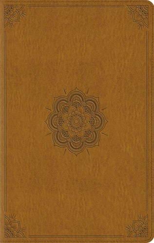ESV Large Print Compact Bible (TruTone, Goldenrod, Emblem Design)