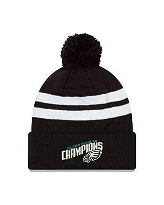 Philadelphia Eagles New Era Super Bowl LII Champions Cuffed Knit Hat with Pom – Black