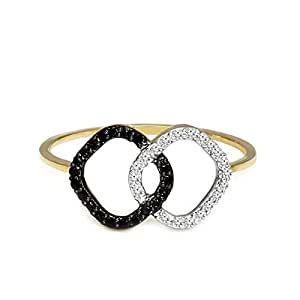 Tanache Ring in 0.676 grams gold weight with 9 pcs. diamond stones in 0.02 carat weight