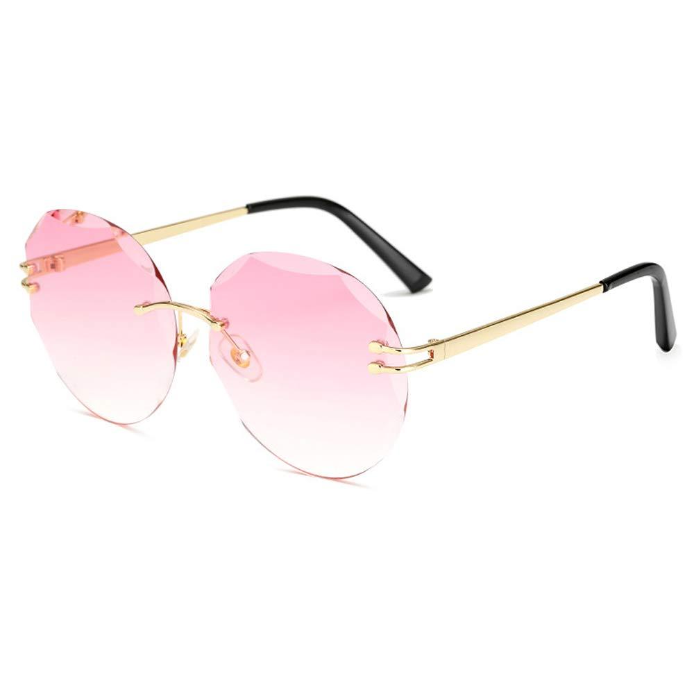 Color Gradient Sunglasses Metal Sunglasses Ladies Sunglasses Blue pink