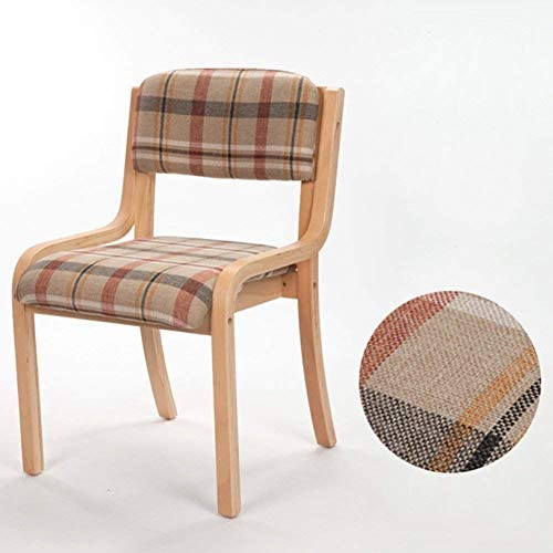 Chaise en Bois Simple, Chaise de Salle à Manger en Cuir à la maisonYLXBH