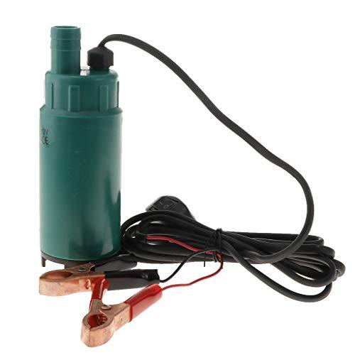 Fenteer Bomba Sumergible Bomba De Transferencia De Bomba De Agua De Aceite Diesel Bomba De Agua 30L / Min - 12V, 5x16cm