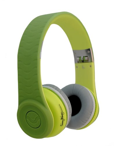 Fanny Wang 1000 Series On-Ear Wangs Luxury Headphones with Apple Integrated Remote and Mic - Green (FW-1003-GRN)