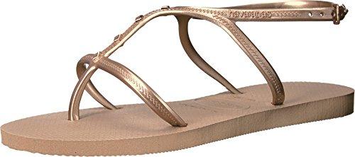 Havaianas Women's Allure Maxi Flip-Flops, Rose Gold, Size 7.0