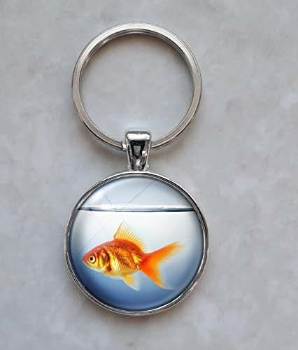 Goldfish in Fishbowl Keychain