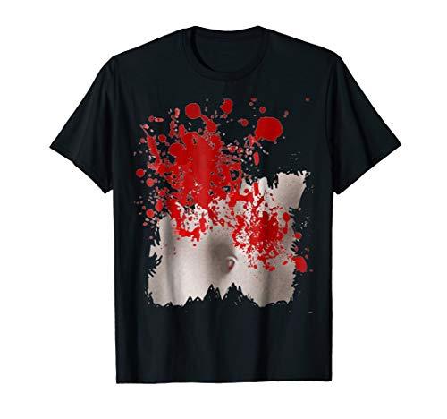 (Ripped Shirt Killer Blood Spatter Halloween Costume)