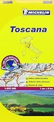 Michelin Map Italy: Toscana 358 (Maps/Local (Michelin)) (Italian Edition)