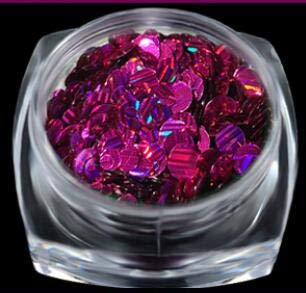 1Pc Giltter Round Laser Sequins Mixed Size Nail Jewelry Stickers Patch Symphony Flash Powder Fingers Three Colors rose