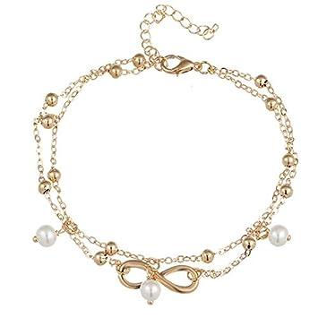 cad8e1a16a9 Haga Anklet Bracelet Vintage Star Elephant anklets Bracelet for Women Boho  pendent Double Layer Anklet Bohemian