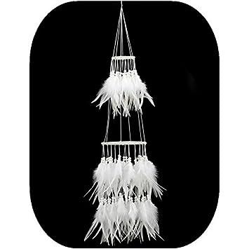 moderne f/ête de No/ël Grand attrape-r/êves fait /à la main 100-105CM blanc D/écoration ext/érieure pour mariage Couleur 1