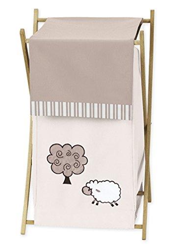 Sweet Jojo Designs Baby/Kids Clothes Laundry Hamper for Little Lamb Bedding -