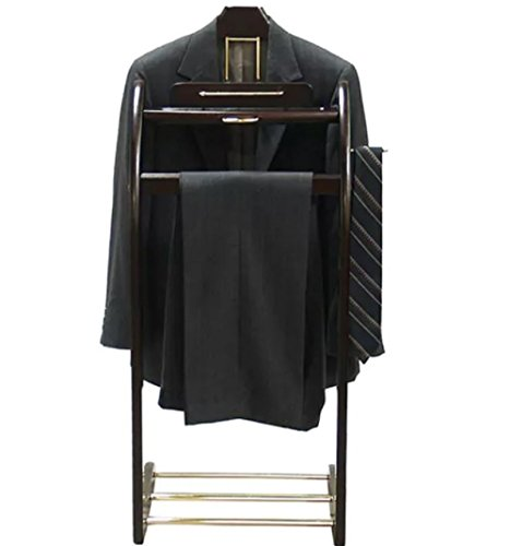 Mens Executive Style Valet Suit Stand Clothing Coat Rack Clothes Organizer Racks VL16140 by Proman Mahogany Valet Stand