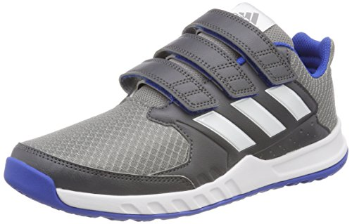 adidas Unisex-Kinder Fortagym Gymnastikschuhe, Mehrfarbig (Grey Five F17/Ftwr White/Grey Three F17), 28 EU