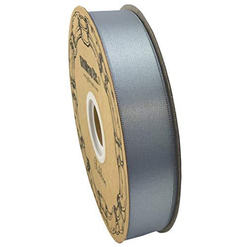 Silver Satin Fabric Wedding Ribbon - 1