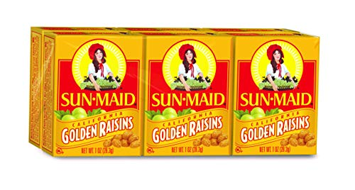 Sun Maid California Golden Raisins (1-Ounce), 6-Count Boxes (Pack of 12) ()