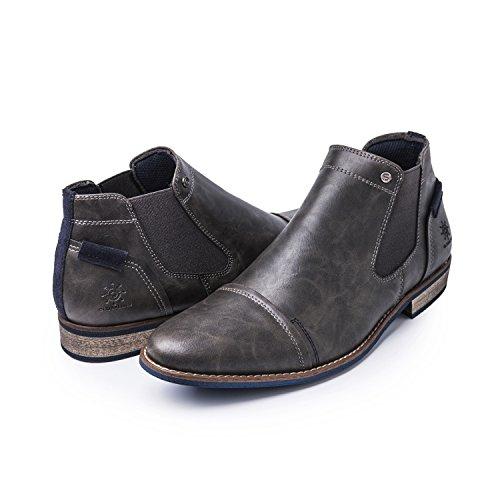 Global Seier Globalwin Menns 1638 Chelsea Boots Grå