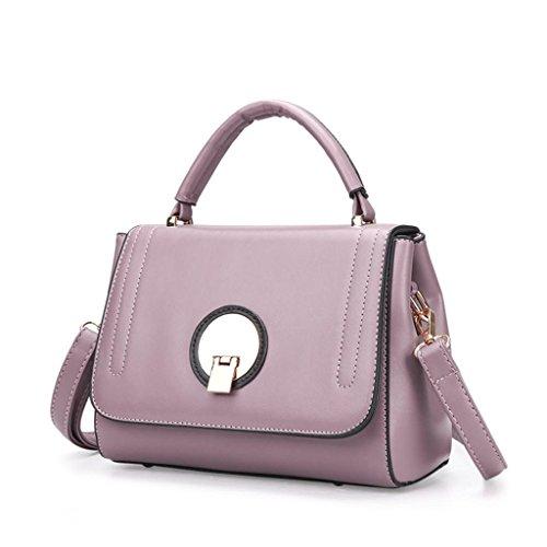 NVBAO Borsa delle signore borsa traversa obliqua a mano Hand-held tre colori Shopping Fare il turismo quotidiano, Red purple