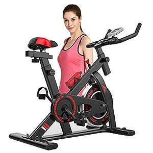 41rbzH1hteL. SS300 Allenamento Spin Bike Cyclette Aerobico Home Trainer, Bici Da Fitness, Allenamento Spin Bike Cyclette Aerobico Home Trainer, Bici Da Fitness, Quadrante Lcd, Silenziamento Del Controllo Magnetico
