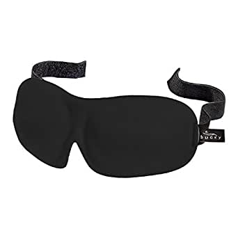 Bucky 40 Blinks Luxury Ultralight Comfortable Contoured Eye Sleep Mask/Blindfold for Travel & Sleep - Black