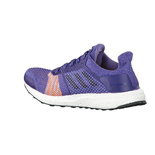 Chaussures De Course Adidas Ultraboost St - Femme - Indigo Brut / Encre Noble / Orange - France Pointure 4