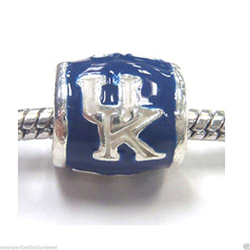 University of Kentucky Wildcats Football Team Logo UK European Bead Charm - for Bracelet or Pendant
