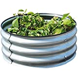 Raised Garden Bed Galvanized Steel Planter Box Outdoor Metal Garden Bed Kit for Vegetable, Herbs, Flowers and Much More - Rou