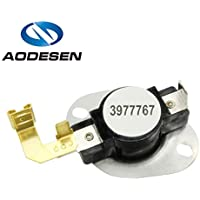 Aodesen 3977767 Dryer Thermostat Replacement Part for Whirlpool & Kenmore Dryer Replaces 3399693 WP3977767VP