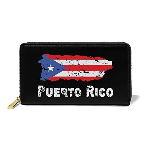 Women Wallet Long Clutch Purse Handbag Bag Puerto Rico Flag